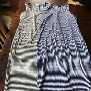 Striped fitted maternity dresses